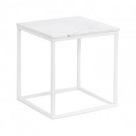 Accent - Konferenčný stolík, štvorec (mramor, biela)