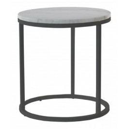 Accent - Konferenčný stolík kruhový, vyšší (mramor, čierna)