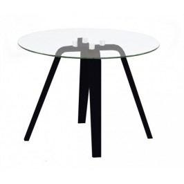 Lola Ella - Konferenčný stolík, sklo, čierna (9312-024+9307-090)