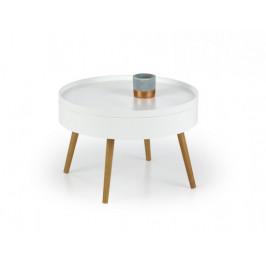 Starlet - Konferenčný stolík (biela, dub sonoma)