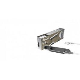 Napájací kábel predlžovací Powerbar USB, 2 zásuvky, 2x USB 1,5m