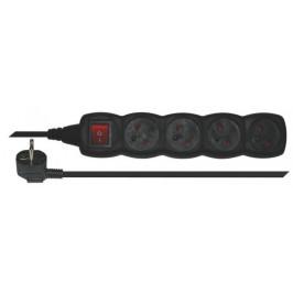 Emos PC1415 - Predlžovací kábel s vypínačom, 4 zásuvky, 5m