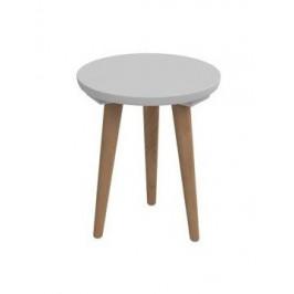 Konferenčný stolík Bergen - malý (sivá doska/dub nohy)