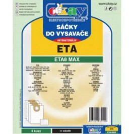 Vrecká do vysávača Eta ETA8MAX, antibakteriálne, 4ks