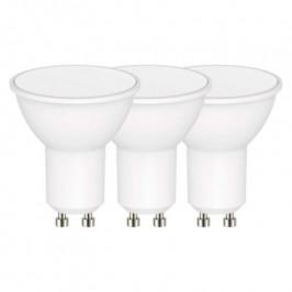LED žiarovka Emos ZQ83403, GU10, 4,5W, teplá biela, 3 ks