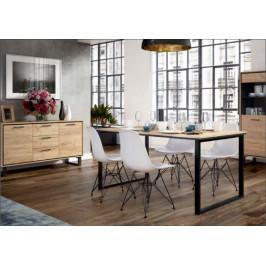 Jedálenský stôl Brick (dub craft/černá)