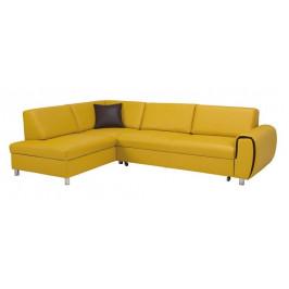 Rohová sedačka rozkladacia Vigo ľavý roh ÚP žltá