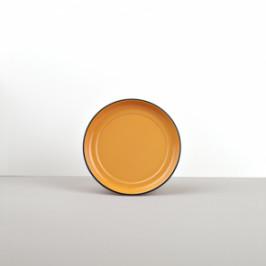 Colourblock keramická podšálka oranžová