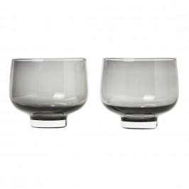 Blomus Súprava 2 pohárov FLOW dymové sklo 0,22 l