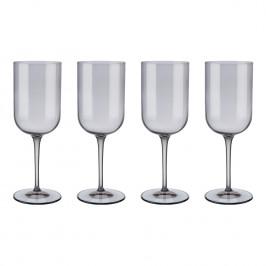 Blomus Súprava 4 pohárov na červené víno FUUM dymové sklo