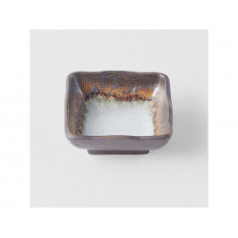 MIJ Štvorcová miska na omáčku Akane Grey 7 cm