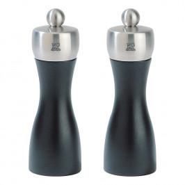 Peugeot Súprava mlynčekov na korenie a soľ FIDJI čierna matná/nehrdzavejúca oceľ 15 cm