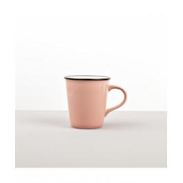 Colourblock keramický hrnček ružový vysoký 300 ml
