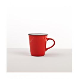 Colourblock keramický hrnček červený vysoký 300 ml