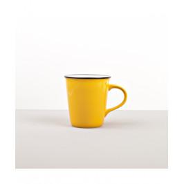 Colourblock keramický hrnček žltý vysoký 300 ml