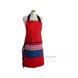 Zástera Anamo ľudová červená s vreckom a modrotiskom