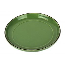 Colourblock keramická podšálka zelená
