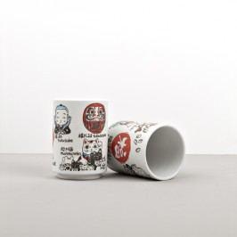 Hrnček s motívmi japonských symbolov šťastia Mug Sushi