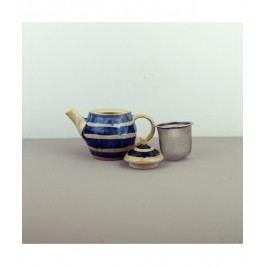 Čajová kanvica so sitkom Teacup modro-béžová