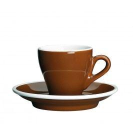 Cilio Šálka na espresso s podšálkou hnedá Milano 50 ml