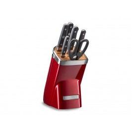 Sada nožov v bloku KitchenAid červená metalíza 7 ks