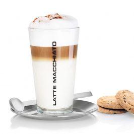 Blomus Pohár na latte macchiato s podšálkou a lyžičkou CONO
