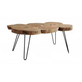 Sconto Konferenčný stolík BOMBAY prírodný palisander/čierna