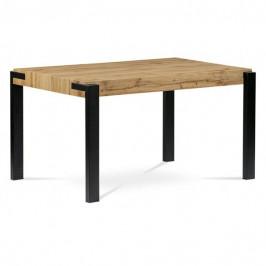 Sconto Jedálenský stôl CARLO dub divoký/čierna