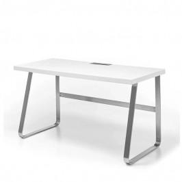 Sconto Písací stôl FIRION biela/oceľ