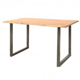 Sconto Jedálenský stôl GURU STONE, akácia, 140 cm