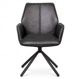 Sconto Jedálenská stolička DEBORA sivá/čierna