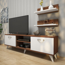 Sconto TV stena AVA II biela/orech