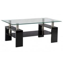 Sconto Konferenčný stolík TOLEDO čierna/sklo