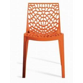 Sconto Jedálenská stolička GRUVYER oranžová
