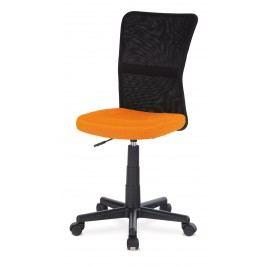 Sconto Kancelárska stolička BAMBI oranžová/čierna