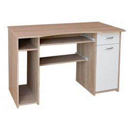 Sconto PC stôl LINDA dub sonoma/biela