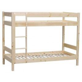 Sconto Poschodová posteľ MILOS smrek, 90x200 cm