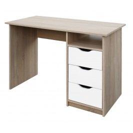 Sconto Písací stôl ROBI dub sonoma/biela