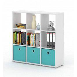 Sconto Regál/knižnica LITE RM33 biela