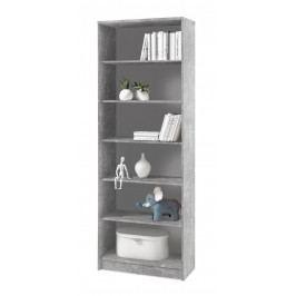 Sconto Regál/knižnica OPTIMUS 35-016 beton/biela