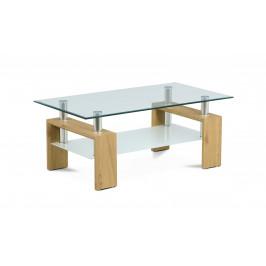 Sconto Konferenčný stolík TOLEDO divoký dub/sklo