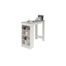 Sconto Barový stôl MOJITO beton/biela