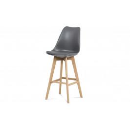 Sconto Barová stolička JULIETTE sivá/buk