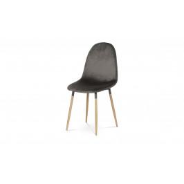 Sconto Jedálenská stolička COURTNEY sivá/buk