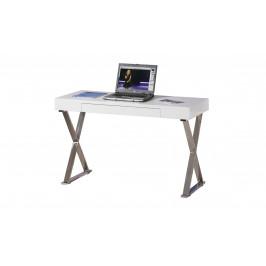 Sconto Písací stôl MEGGIE biela/strieborná