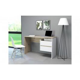 Sconto Písací stôl PACO 03 dub/biela