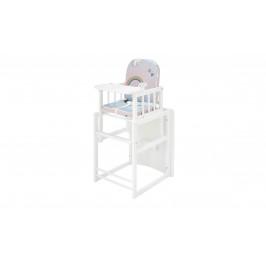 Sconto Detská kombinovaná stolička SARAN biela/motív jednorožci