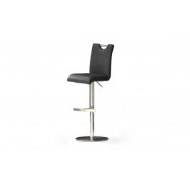 Sconto Barová stolička HAILEY čierna/syntetická koža