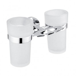 Držiak pohára a kefiek Nimco Unix včetně skleničky chróm UN 13057DW-26