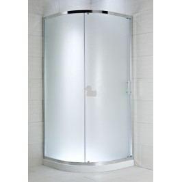 Sprchový kút Jika štvrťkruh 80 cm, R 550, nepriehľadné sklo, chróm profil 5024.1.002.666.1